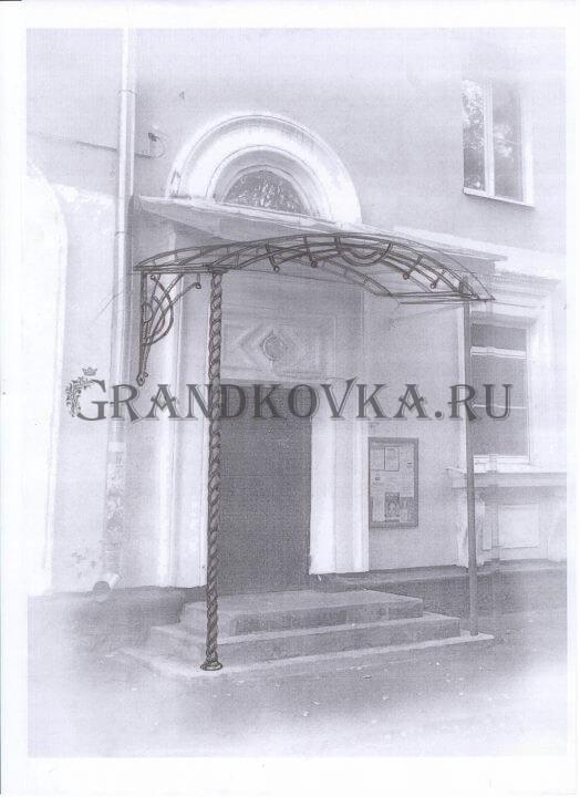 Эскиз козырька над дверью ЭКД-14