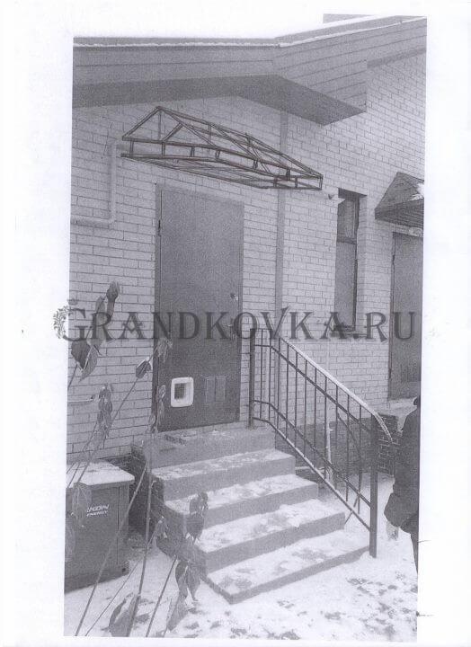 Эскиз козырька над дверью ЭКД-22