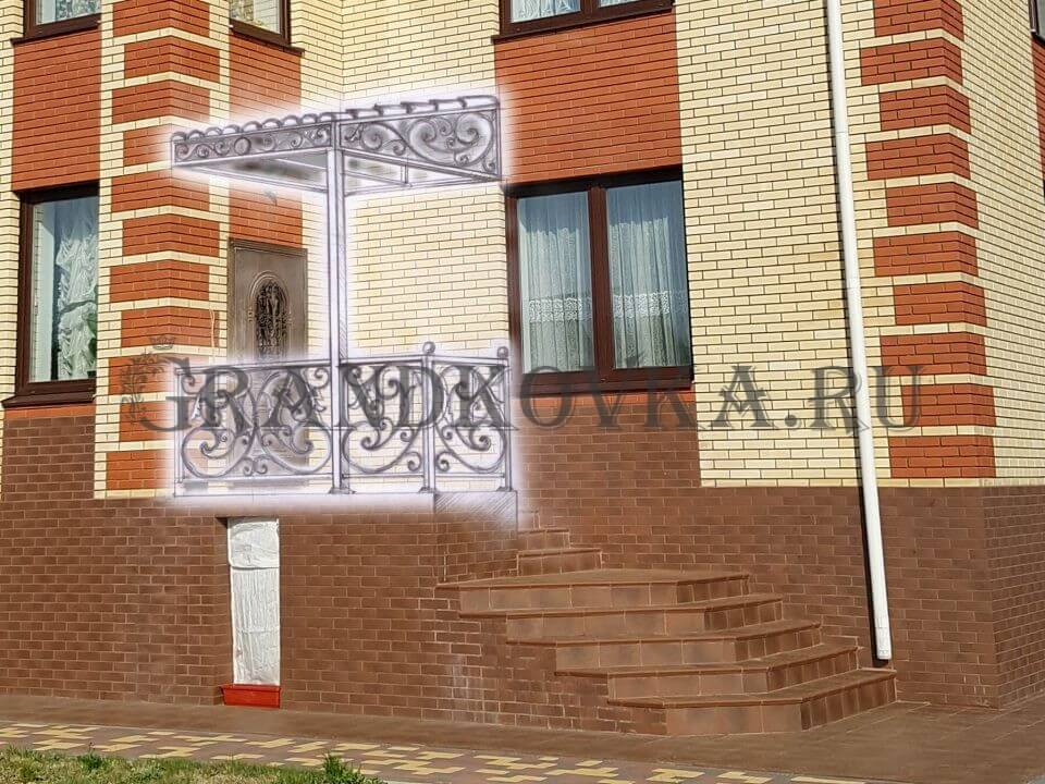 Эскиз козырька над входом ЭКВХ-19