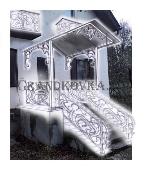 Эскиз лестницы для крыльца ЭЛК-7