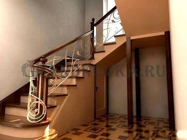 Фото лестницы с поворотной площадкой 5
