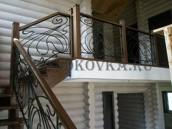 Фото лестницы с поворотной площадкой 8